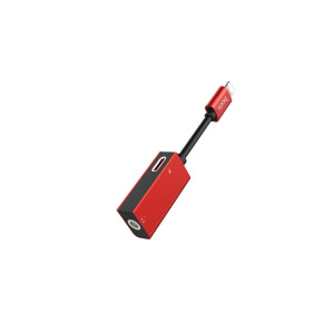 Adaptor audio lightning 3.5, Hoco LS16 Rosu