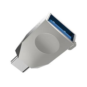 Adaptor Hoco OTG USB la USB TYPE-C UA9 Argintiu