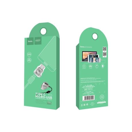 Adaptor Micro USB - Type C Gri Hoco