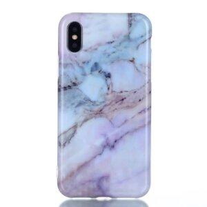 Apple Husa Cover pentru iPhone X/Xs, TPU, Marble, Mov