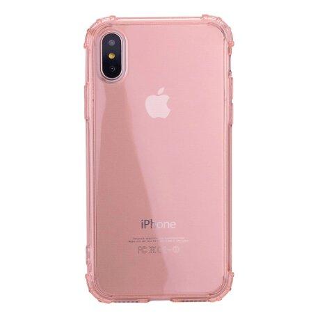 Apple Husa Cover pentru iPhone X/Xs, TPU, Shockproof, Roz