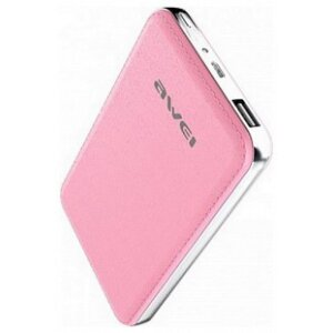 Baterie Externa Awei 10400mAh Leather Effect Roz