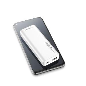 Baterie Externa Cellularline FREEPSLIM10000W 10000mAh Ultra Slim QC 3.0 2xUSB 10W Alb