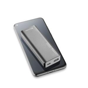 Baterie Externa Cellularline FREEPSLIM10000K Ultra Slim QC 3.0 2xUSB 10W Albastru
