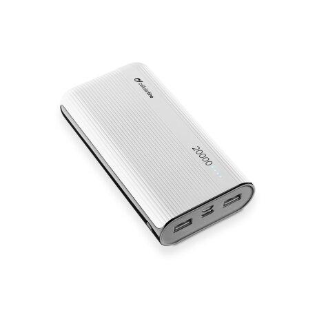 Baterie Externa Cellularline 20000mAh QC 3.0 2xUSB 12W Alb