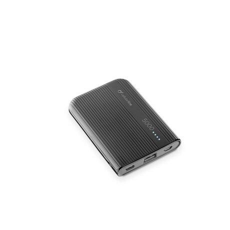 Baterie Externa Cellularline 5000mAh QC 3.0 1xUSB 10W Negru