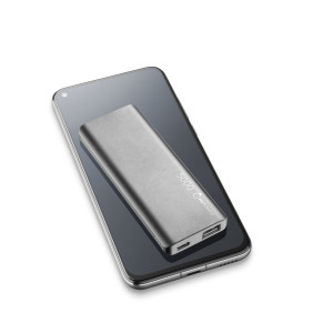 Baterie Externa Cellularline FREEPSLIM5000B 5000mAh Ultra Slim QC 3.0 1xUSB 10W Negru
