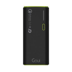Baterie Externă Goui Kashi +D, 17000 mAh, Quick Charge 3.0 și 2xUSB, Negru