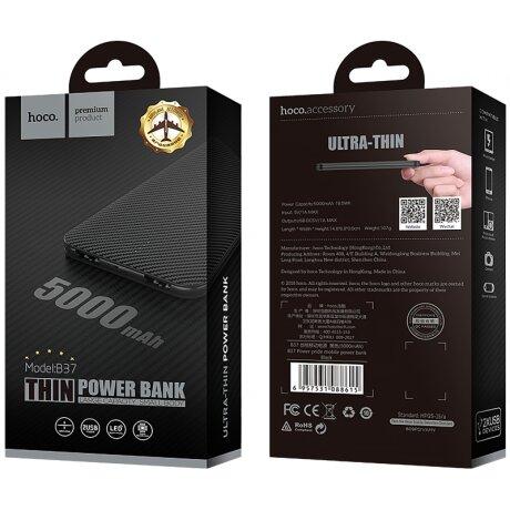 Baterie Externa Hoco B37 5000mAh 2xUsb Negru