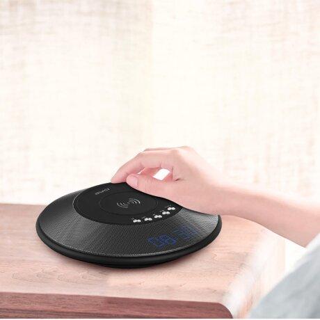 Boxa Bluetooth Awei cu Incarcator Wireless si PowerBank Negru