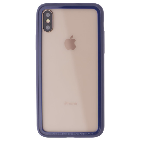 Bumper iPhone X/XS Border Baseus Albastru
