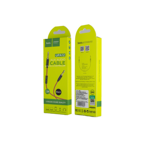 Cablu audio auxiliar cu microfon, Hoco UPA12 Negru