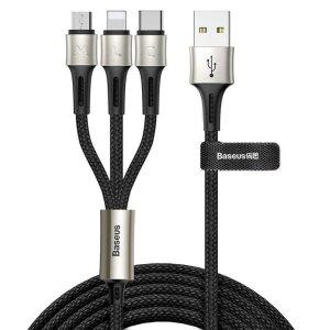 Cablu Date 3in1 Baseus Cargin Touch  3.5A 1.2m Negru