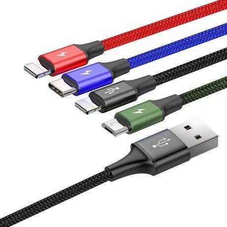 Cablu Date 4in1 Baseus Rapid  3.5A 1.2m Negru