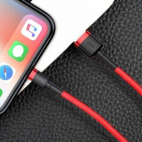Cablu Date Lightning Baseus Cafule  1.5A 2m Rosu