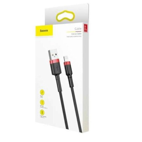 Cablu Date Lightning Baseus Cafule 2.4A 1m Rosu