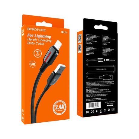 Cablu Date Lightning BU14 Negru Borofone