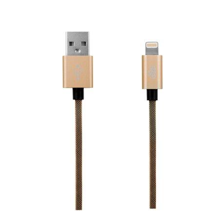 Cablu Date Lightning Ego 3.4A 1m Auriu
