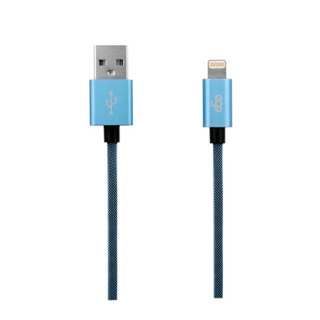 Cablu Date Lightning Ego  3.4A 2m Albastru