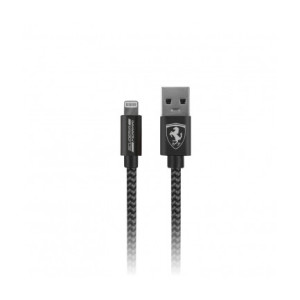 Cablu Date Lightning Ferrari Nylon FETCNYDG Textil 1.5m Dark Grey