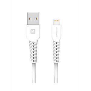 Cablu Date Lightning Swissten 1m Alb