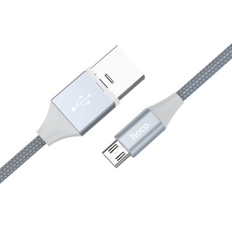 Cablu date magnetic Micro USB U40B Hoco 1m Gri