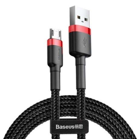 Cablu Date Micro Usb Baseus Cafule  2.4A 0.5m Negru