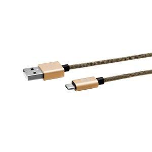 Cablu Date Micro Usb Ego  3A 1m Auriu