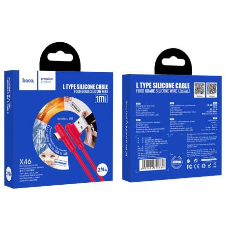 Cablu Date Micro Usb Hoco X46 Pleasure Silicone 1m Rosu