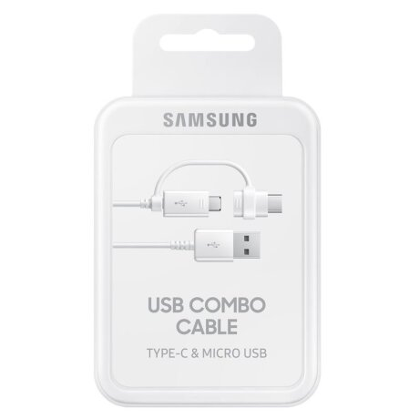 Cablu Date Samsung Combo Micro Usb-Type C 1.5m Alb