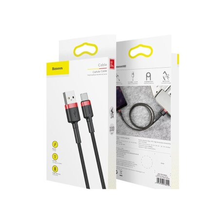 Cablu Date Type C Baseus Cafule  3A 1m Gri