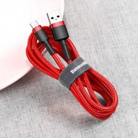 Cablu Date Type C Baseus Cafule  2A 3m Rosu