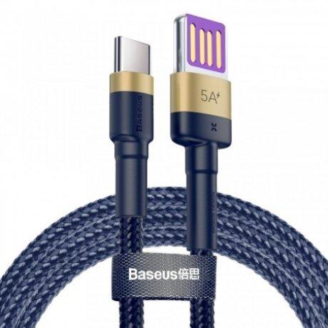 Cablu Date Type C Baseus Cafule QC 3.0 40W 5A 1m Albastru