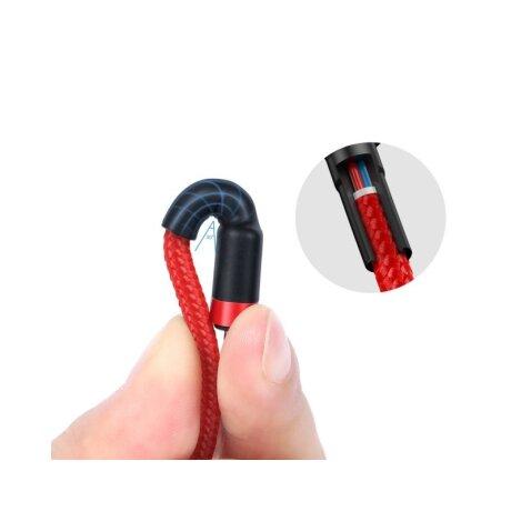 Cablu Date Type C Baseus Cafule  QC 3.0 60W 3A 1m Rosu
