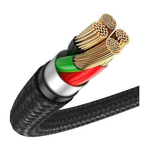 Cablu Date Type C Baseus Halo  3A 1m Negru