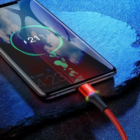 Cablu Date Type C Baseus Halo 3A 1m Rosu