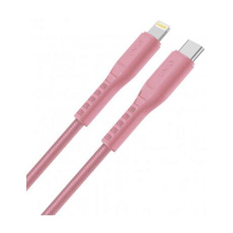 Cablu Date Type C la Lightning Uniq Flex PINK 3A 1.2m Roz