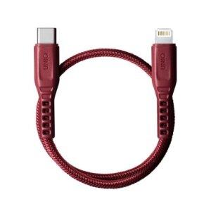 Cablu Date Type C la Lightning Uniq Flex 3A 0.3m Rosu
