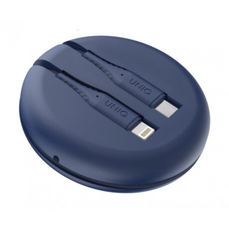 Cablu Date Type C la Lightning Uniq Halo cu Organizator 18W 1.2m Albastru