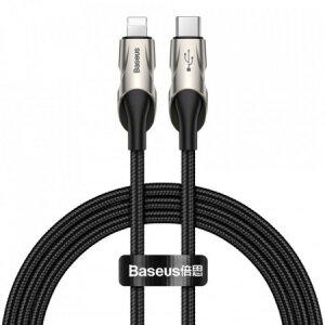 Cablu Date Type C to Lightning Baseus Fisg Eye  PD 18W 1m Negru