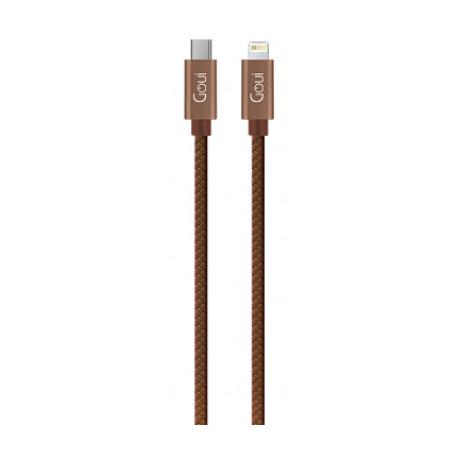 Cablu Date Type C to Lightning Goui Fashion G-FASHIONC94BR 1m Maro