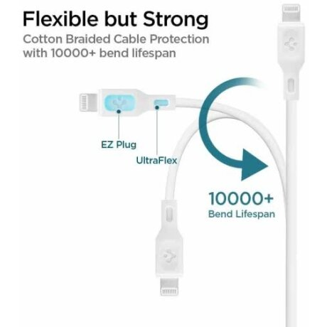 Cablu Date Type C to Lightning Spigen 1m Alb