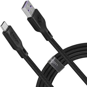 Cablu Date Usb-C Spigen QC 3.0 1.5m Black