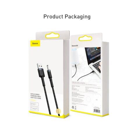 Cablu Date Usb to Jack 3.5mm Baseus Cafule 2A 1m Negru