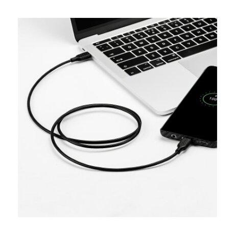 Cablu Date Usb-Type C la Usb-Type C Pitaka 3A 1m Negru