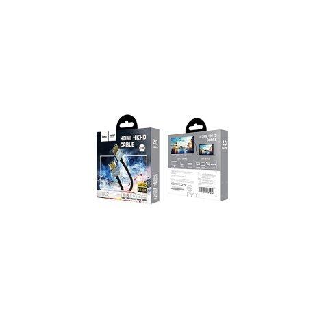 Cablu HDMI 4K DH, Hoco UA12 Negru 1.5m
