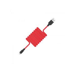 Cablu Hoco X21 Micro USB Negru-Rosu 1m
