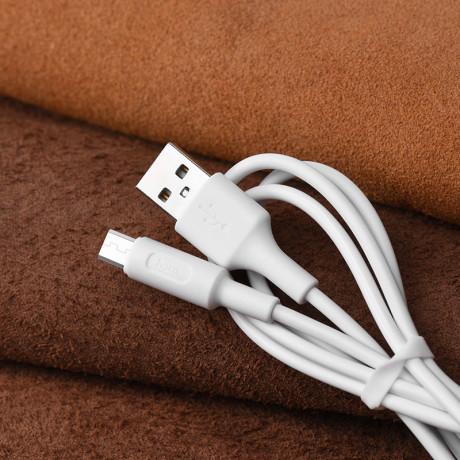 Cablu Micro Usb Hoco X25 Alb 1m