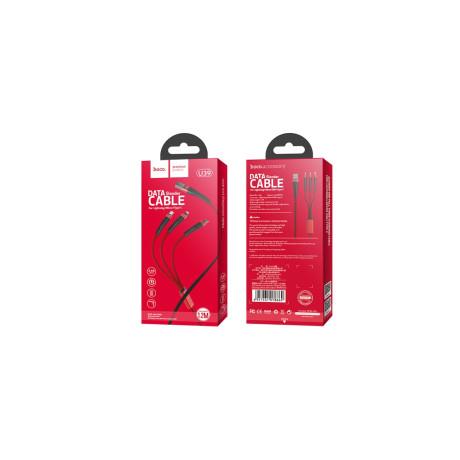 Cablu incarcare 3 in 1, Hoco U39 Rosu