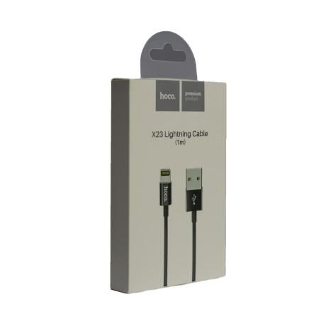 Cablu incarcare Lightning, Hoco X23 Negru 1m